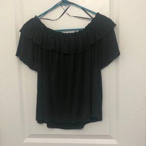 Off the Shoulder Dark Grey Teeshirt